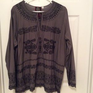 Johnny Was embroidered tunic size 1x